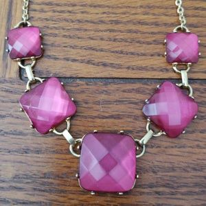 Pink and gold necklace never worn.